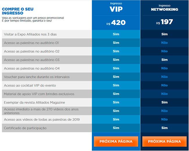 Afiliados Brasil 2019 Preços